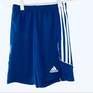Youth Small blue adidas blue shorts climacool